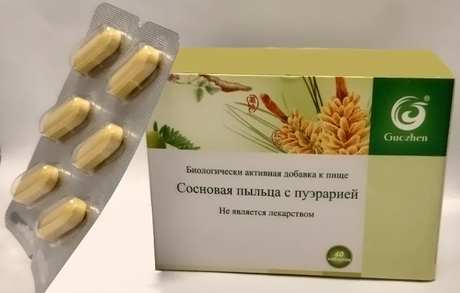 "Pine Pollen for Liver Protection  ""GUOZHEN"" 60 Tablets"